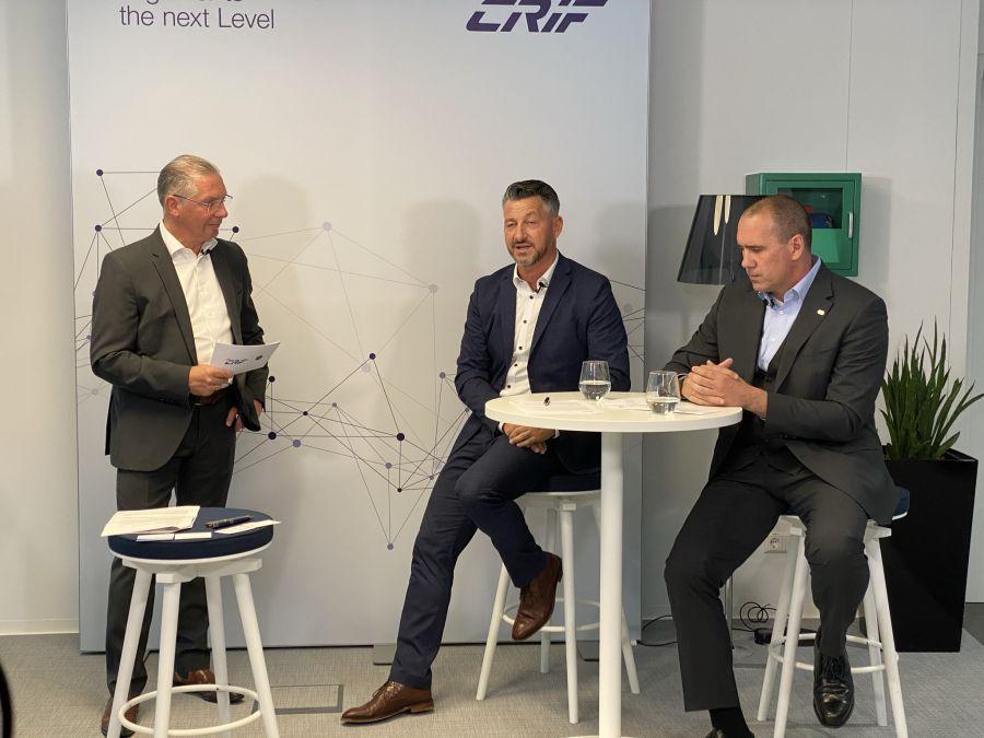 v.l.n.r.: Paul Leitenmüller, Walter Strobl und Roland P. Wallner